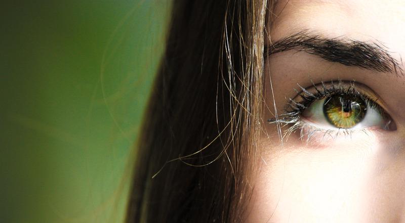 a beautiful green eye
