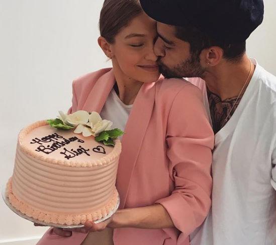 Gigi Hadid and Zayn Malik celebrating her birthday