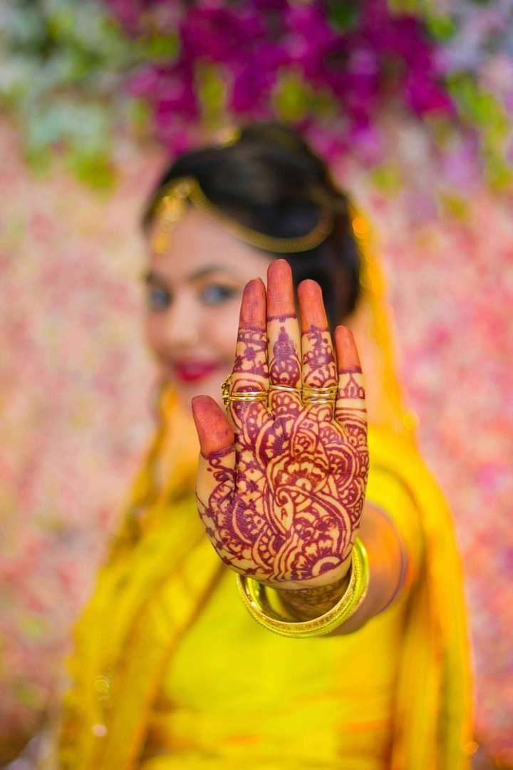 Easy henna designs front hand