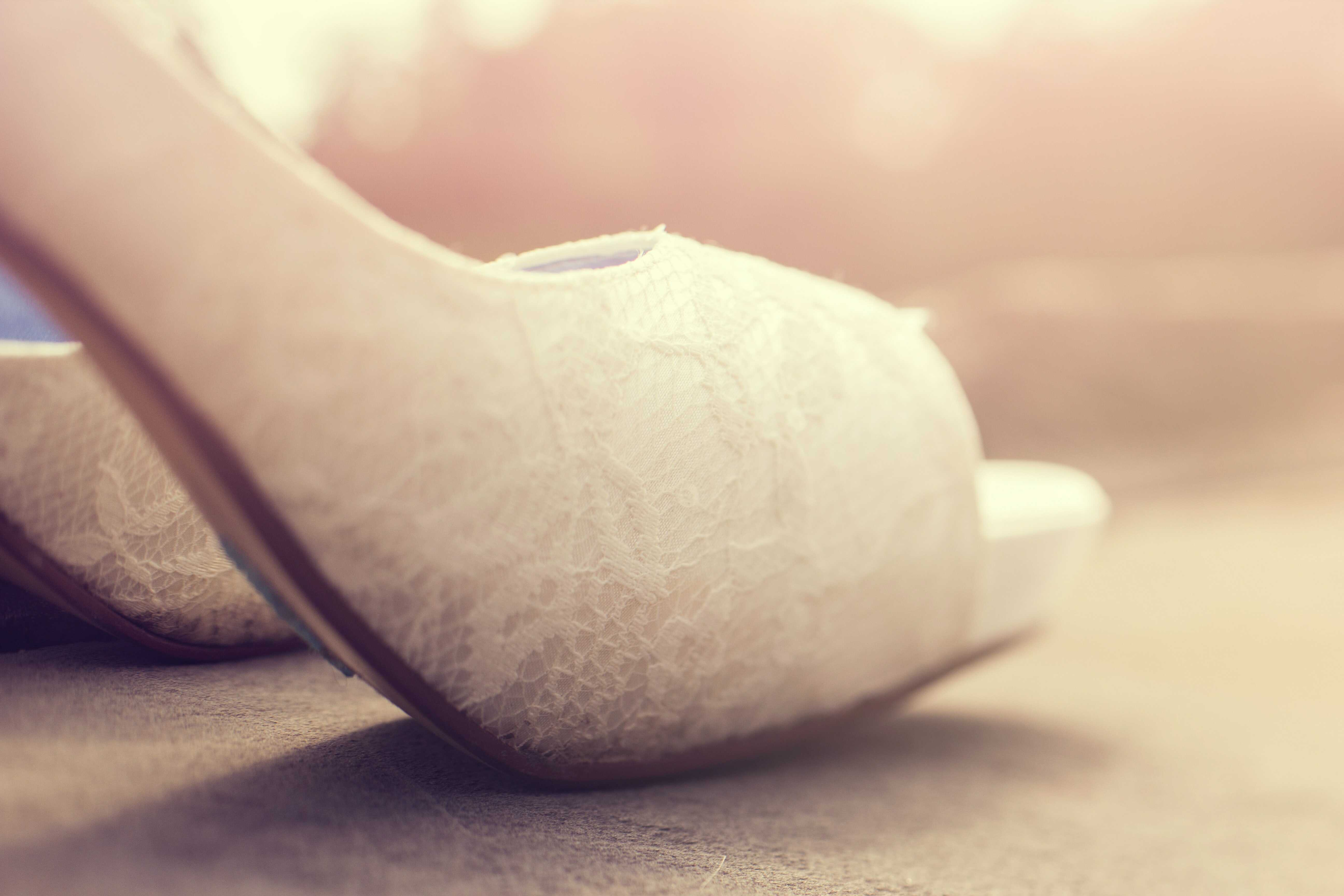 a white heels with platform