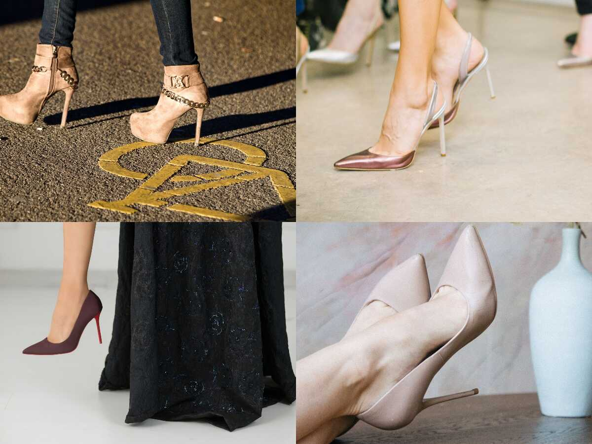 a combination of pin heels