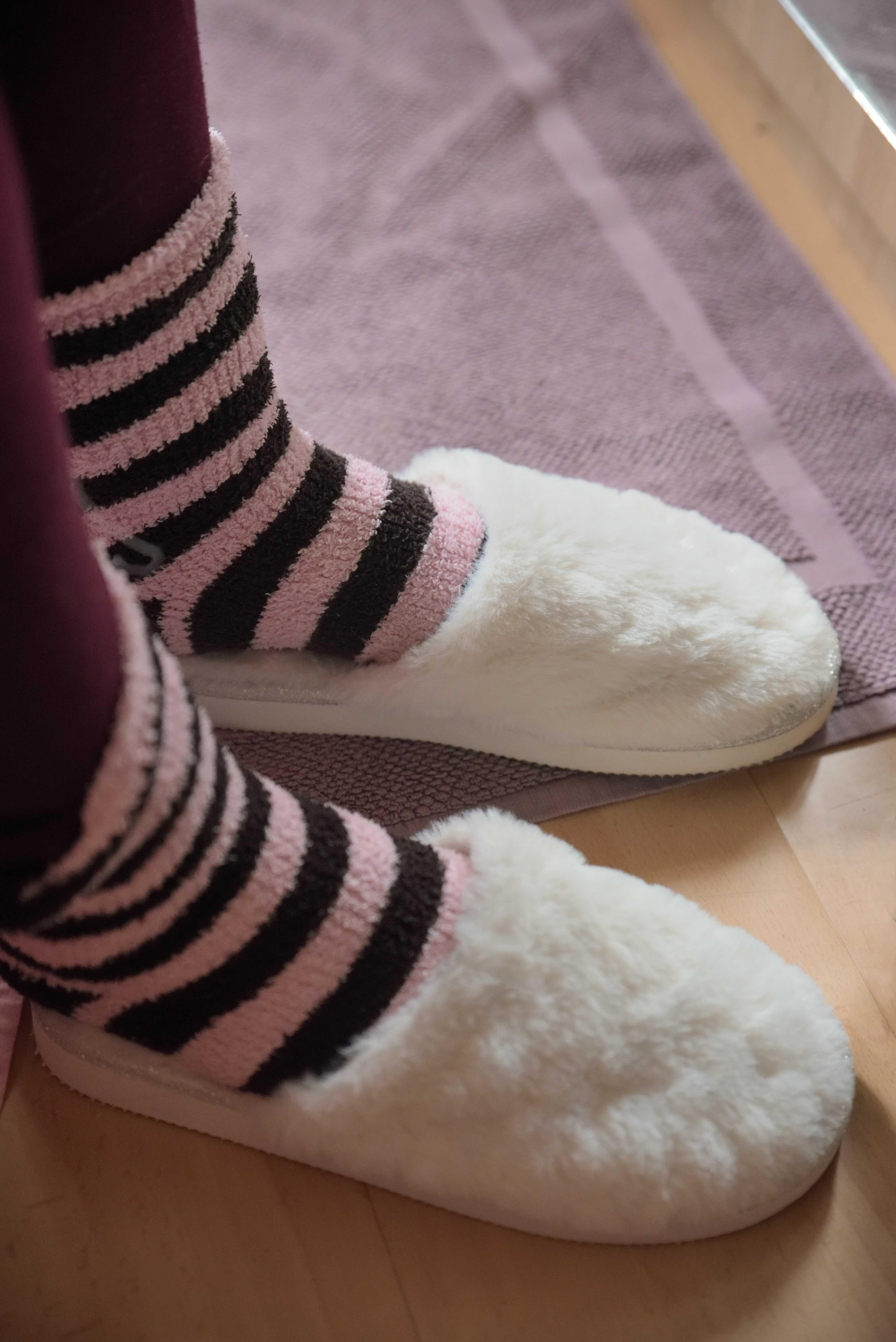 a white slipper