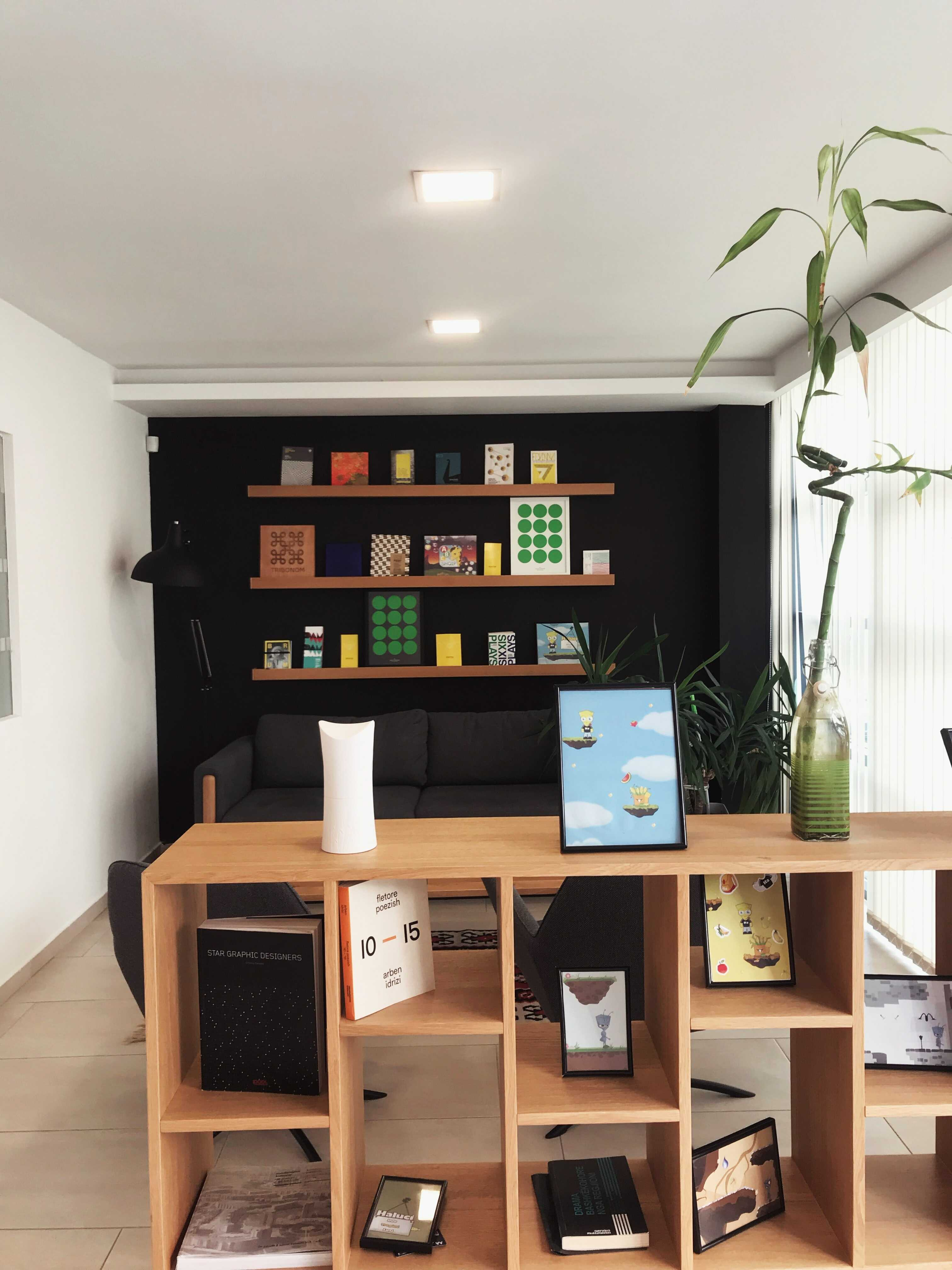 a simple wooden library