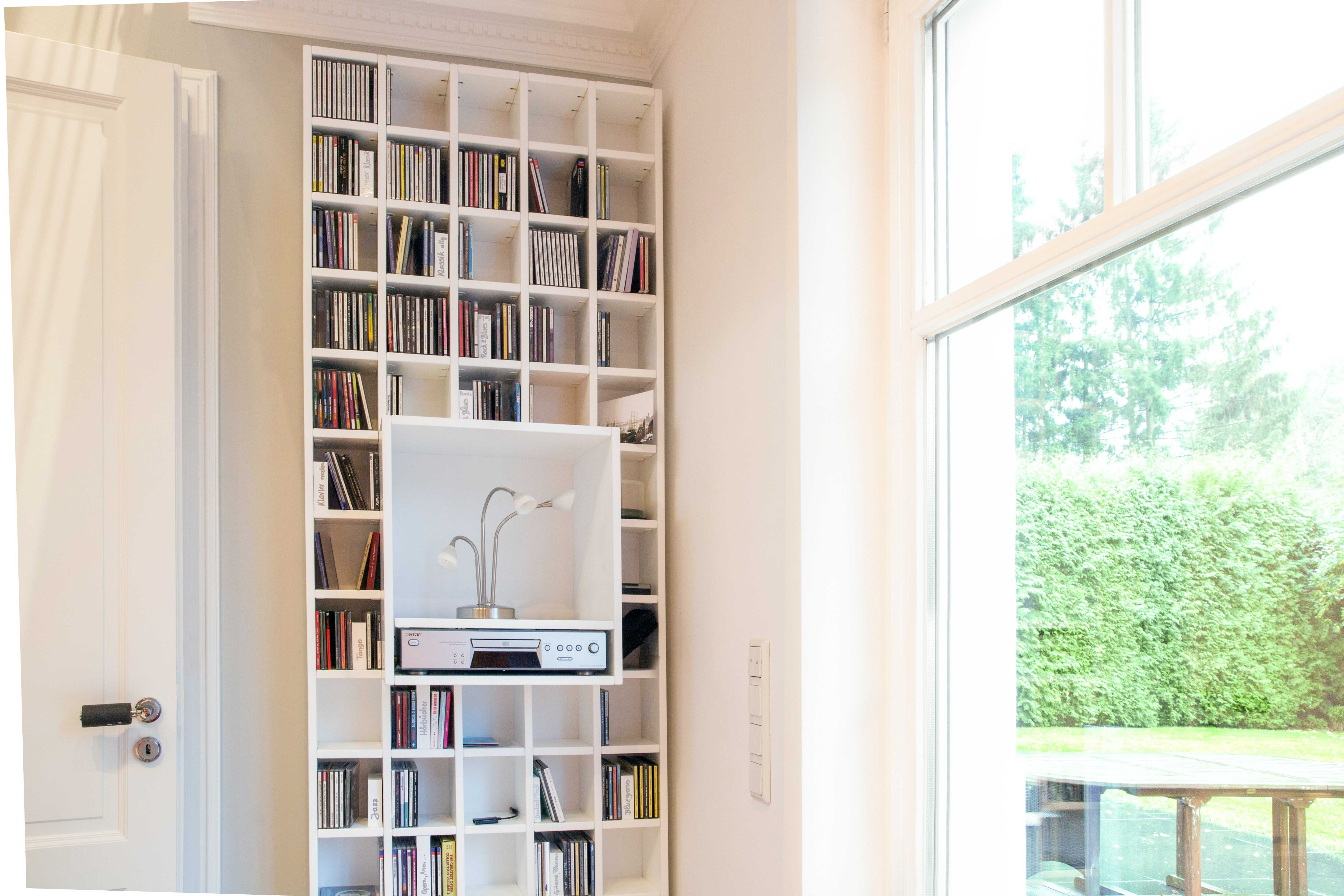 a white library