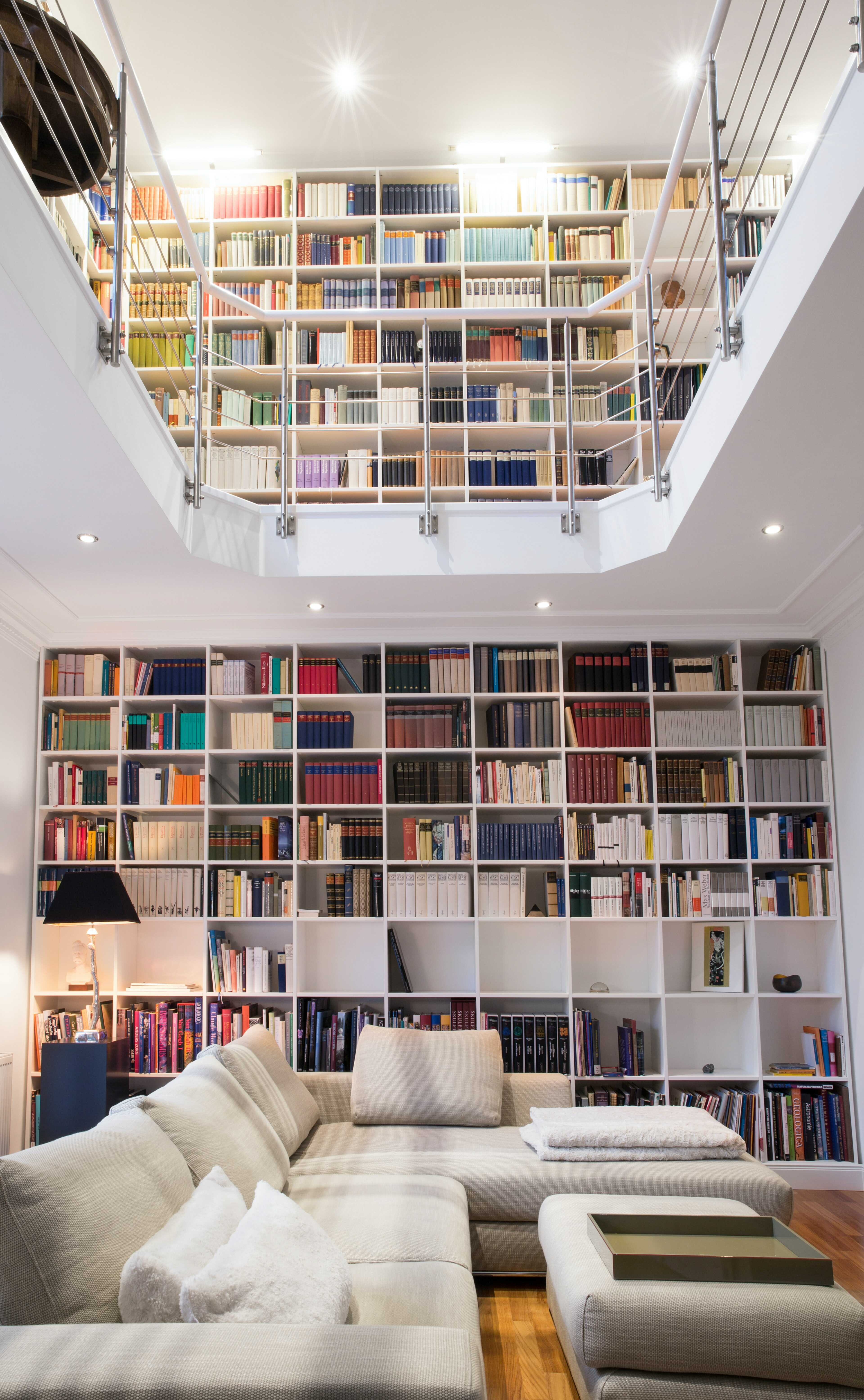 the library in living room