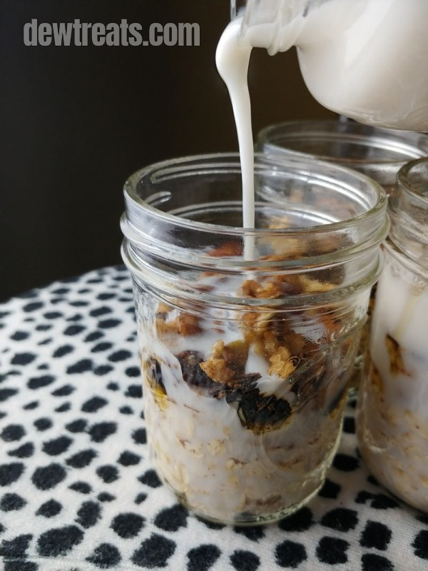Apple cinnamon roll overnight oats