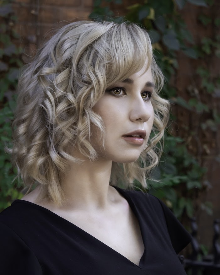 Crimped hairstyles for short hair