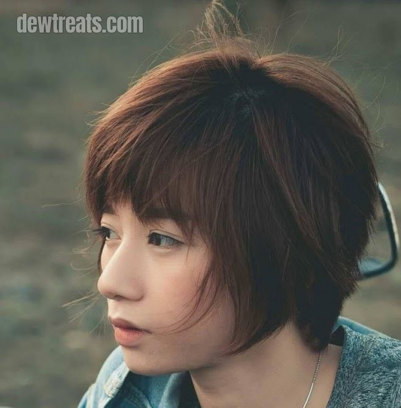 Side swept bangs hairstyle