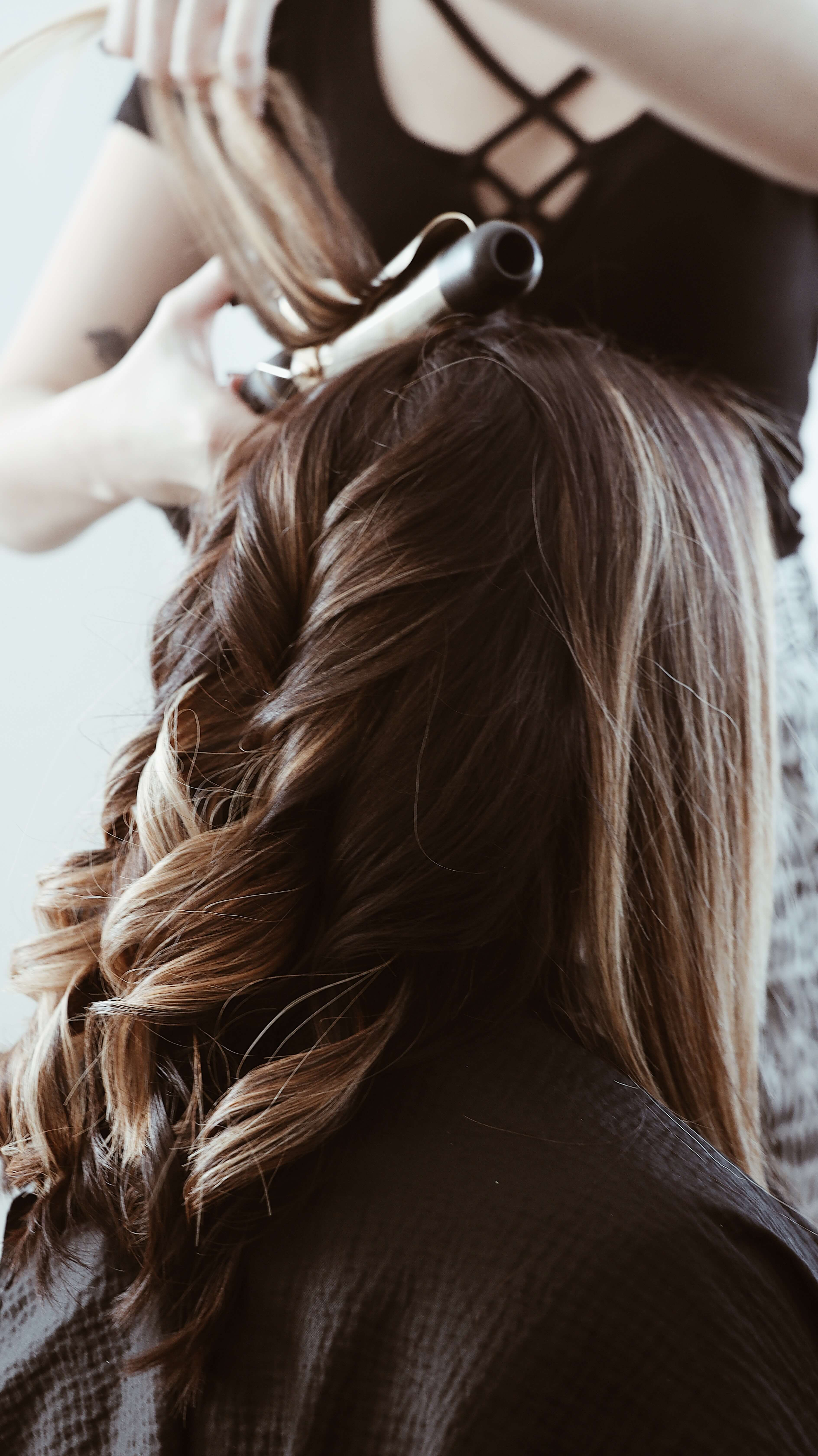 hair curling iron 2 in 1